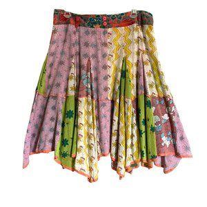 Lux Patchwork Cotton Gauze Skirt